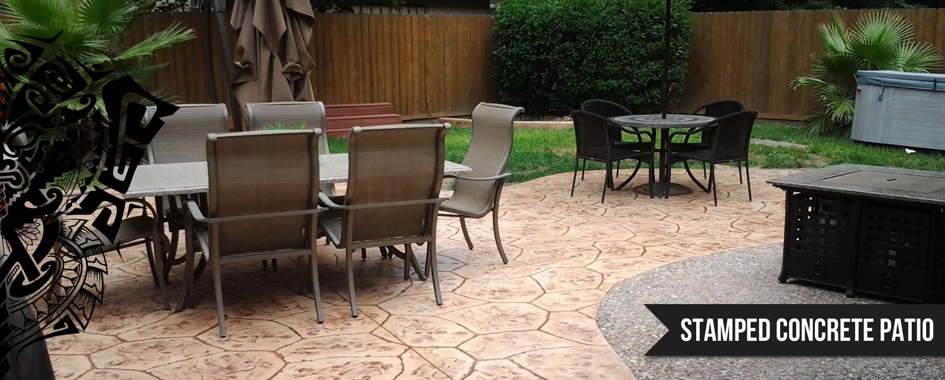 Houston Decorative Concrete Stamped Stained Concrete